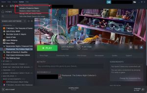 Where to activate a game on Steam