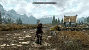 A screenshot from Skyrim