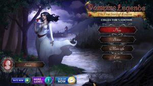 Title screen for Vampire Legends: The True Story of Kisilova