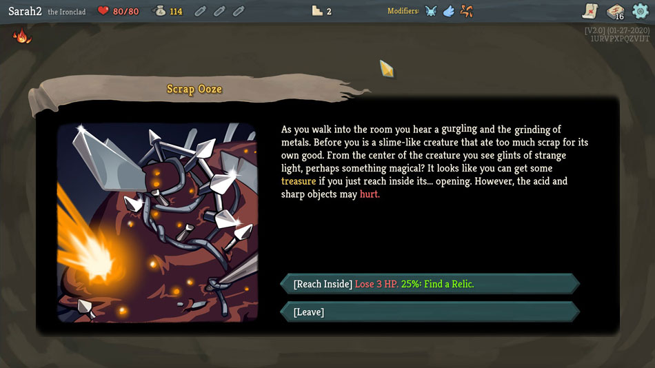 An encounter in Slay the Spire