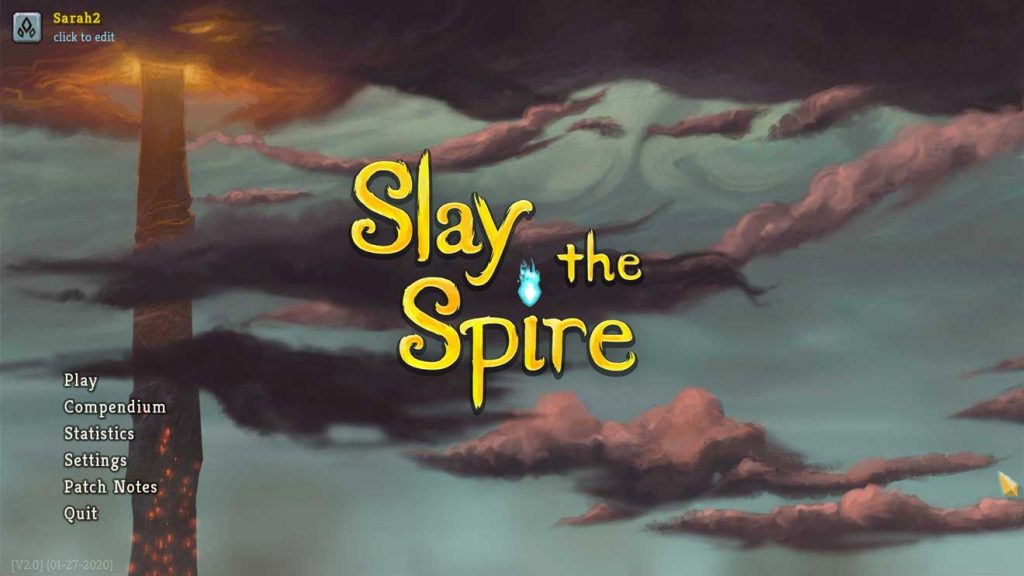 The title screen for Slay the Spire
