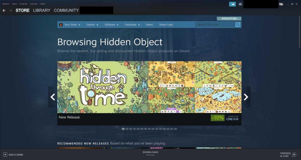 Hidden object games at Steam