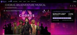 The crowdfunding campaign page for Chorus at Fig