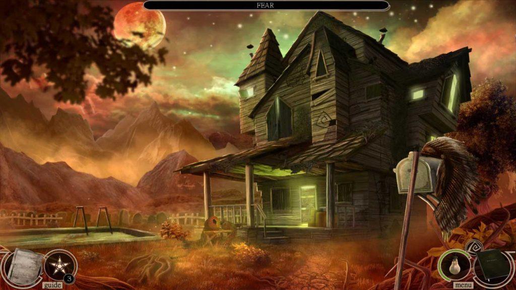 Screenshot from the horror hidden object game Maze: Subject 360
