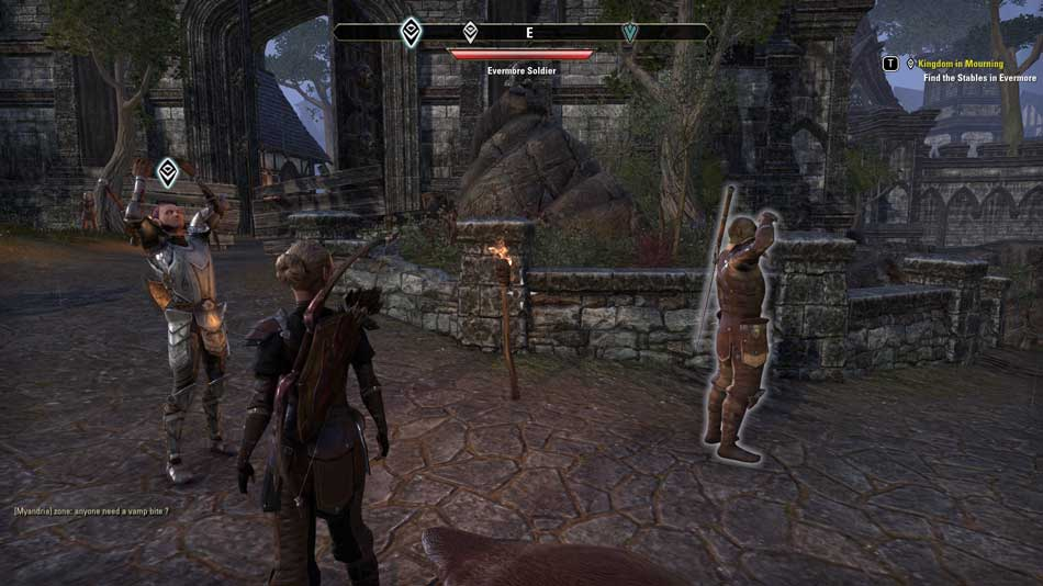 Screenshot from the Elder Scrolls Online in a medieval-looking area